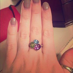Jewelry - Sterling silver gemstone/diamond ring